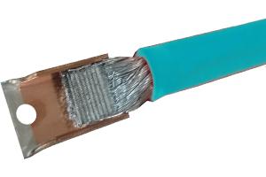 ワイヤーハーネス用アルミ電線と銅端子の超音波接合